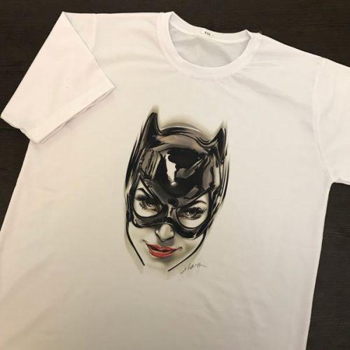 چاپ تیشرت سفید اسپان