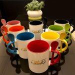 چاپ لیوان قاشقدار رنگی